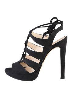 Made in italia - collezione primavera/estate 2016 - 100% made in italy - scarpe donna, chiusura con cinturino regolabile - Sandalo donna flaminia Nero