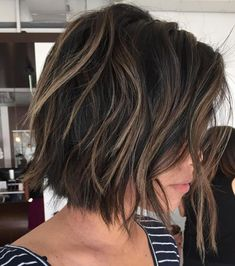 Brown Choppy Bob With Highlights Related posts: Let's know about attractive short layered haircuts for curly hair 22 Cute Layered Hairstyles For Medium Hair Medium Hair Cuts, Short Hair Cuts, Short Hair Styles, Short Medium Hair Styles, How To Style Short Hair, Easy Hair Cuts, Bob Styles, Above The Shoulder Haircuts, Layered Bob Hairstyles
