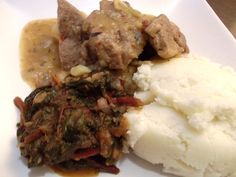 mutton stew n morogo South African Recipes, Ethnic Recipes, Meat Recipes, Stew, Mashed Potatoes, Kitchen, Dance, Food, People