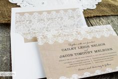 Free burlap and lace envelope liner template