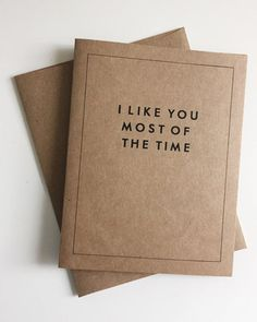"""How to tell people you love them without having to tell people you love them. - Set of 3 - Cards measure 4.25"""" x 5.5"""" - 3 A2 envelopes included - Blank inside"""