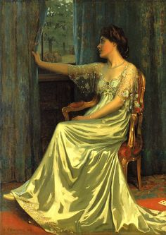 Wow. That dress! The artist really captures the opulence in the folds of fabric, lovely.