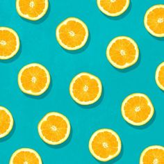 Oranges - Fruit Pattern Comforters by La Chic - Queen: x Fruit Pattern, Cute Pattern, Pattern Art, Orange Pattern, Art Mural Orange, Orange Art, Teal Background, Background Patterns, Food Patterns