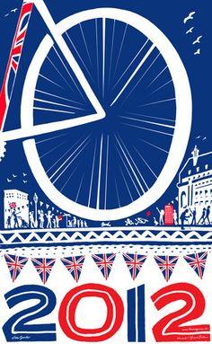 London 2012 Olympics limited edition A3 print by HaveAGanderUK, pinned by www.funkyfabrix.com.au