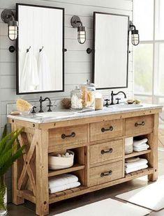60+ Rustic and Modern Bathroom Remodel Inspirations #bathroomvanities