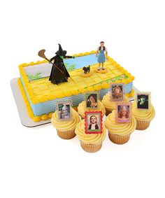 Look what I found on #zulily! Wizard of Oz Cake Topper & 24 Cupcake Rings #zulilyfinds