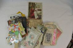 Lot of Early 1900s Postcards Valentine Risque Notepads Holiday Calendar