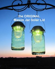 Wide Mouth Mason Jar Solar Lids, the ORIGINAL Hanging Mason Jar Solar Light http://etsy.me/1hHW3Kt