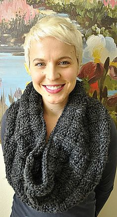Lara's Cowl (free pattern on Ravelry) - knit  in Twinkle Soft Chunky