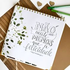 Lettering Tutorial, Hand Lattering, Motivational Phrases, Calligraphy Letters, Bullet Journal Inspiration, Brush Lettering, Words Quotes, Doodles, Typography