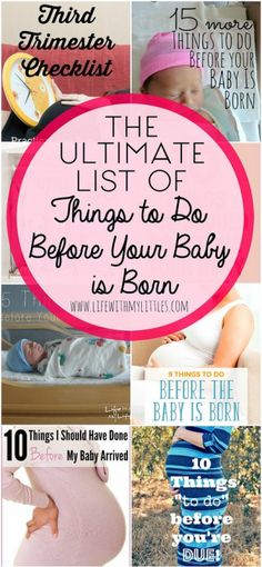 The ultimate list of things to do before your baby is born. This is a great roundup of the best posts all about how to prepare for your baby being born! teen statistics in uk, 10 weeks postpartum. 5 Weeks Pregnant, Pregnant Mom, Before Baby, After Baby, Baby Checklist, Preparing For Baby, Getting Ready For Baby, Prepare For Labor, Baby Arrival