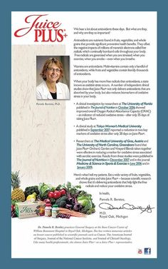 Dr. Pamela Benitez of Royal Oak, Mi on Juice Plus