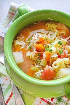 This Sicilian chicken soup tastes JUST like Mama Mandola's soup from Carrabba's Italian Grill. Even better, you can make it in your slow cooker!