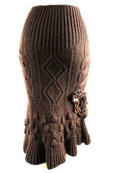 Alexander McQueen Fall/Winter 2005 Runway Wool/Alpaca Aran Skirt 3