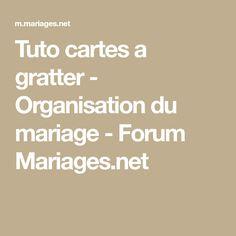 Tuto cartes a gratter - Organisation du mariage - Forum Mariages.net