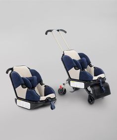 Sit 'n' Stroll Nautical Blue Sit 'n' Stroll (Convertible Stroller car seat that has wheels) - so good for holiday travel! Lifesaver. #kids #baby #traveling