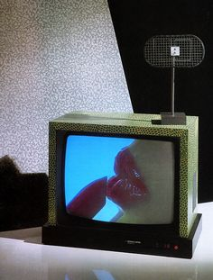 darcydigital: Ettore Sottsass and Matteo Thun, Television, for Brionvega, 1979-1980