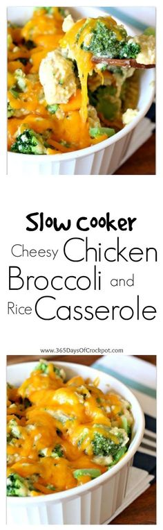 365 Days of Slow Cooking: Slow Cooker Cheesy Chicken, Broccoli and Rice Casserole