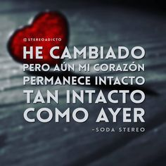 Consulta esta foto de Instagram de @stereoadicto • 985 Me gusta Soda Stereo, Music Lyrics, My Music, Cute Phrases, Positive Phrases, Do You Really, Save My Life, Cool Words, Rock And Roll