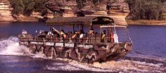 Wisconsin Dells Army Duck Tours  go from land to lake and back on land