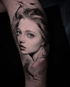 Real Girl Portrait Tattoo by Thomas Carli Jarlier Great Tattoos, Tattoos For Guys, Tatoos, Tatting, Gallery, Portrait Tattoos, Photography, Instagram, Portraits
