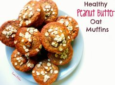 Healthy Peanut Butter Oat Muffins {healthy, vegan, no added oil} - Ceara's Kitchen - use gf flour