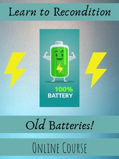 Recondition batteries at home! You can save money, buy old batteries and sell for a profit, reuse batteries, etc. Online Courses, Reuse, Saving Money, Electronics, Learning, Products, Save My Money, Beauty Products, Teaching