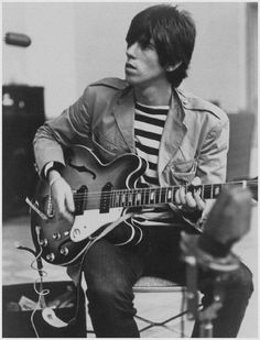 Keith Richards with his Epiphone Casino