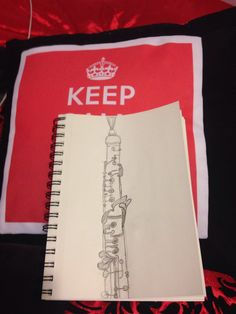 My sketch of an oboe, (well 2/3 of an oboe...I'm missing the bell...lol)