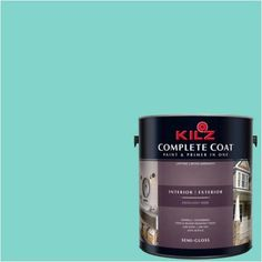 Kilz Complete Coat Interior/Exterior Paint & Primer in One #RG150-02 Miss Golightly, 1 gal, Flat