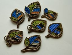 Wool felt and zipper leaf brooches | Flickr - Photo Sharing!
