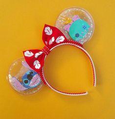 Disney Diy, Diy Disney Ears, Disney Minnie Mouse Ears, Disney Bows, Disney Crafts, Walt Disney, Disney Babies, Disney Stuff, Lelo And Stitch