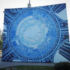 Stencilcity, M-City,  Kołobrzeg   Poland   2016 Beach Mat, Street Art, Outdoor Blanket, Tapestry, Photo And Video, Artwork, Instagram, Decor, Hanging Tapestry