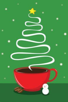 christmas coffee tree by Dong Woo Suh (xinsound) on Wookmark Coffee Talk, I Love Coffee, My Coffee, Morning Coffee, Coffee Shop, Coffee Cups, Coffee Lovers, Coffee Maker, Coffee Drinks