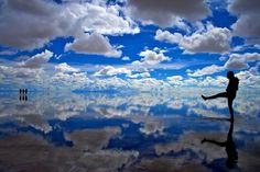 Mirror of my favo: bue sky filled with layers of clouds