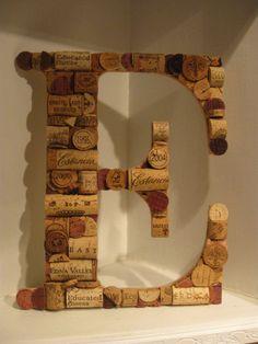 Wine Cork Letter E
