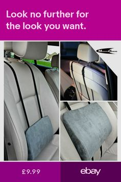 Smart Car Seat Back Support Lumbar Cushion Wait Rest Pillow Memory Foam Auto Accessories Breathable 1pcs For Car Seat And Office Chair Interior Accessories Neck Pillow
