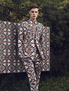 Janis Ancens by Jacob Sutton; suit: Alexander McQueen F/W 2013