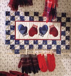 Quilter's Home: Winter eBook.  This is a link to a book you can purchase, but it's an easy pattern you could do just from this picture.  I love this idea!