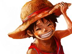 Luffy- BUT PAINTED IN A REALLY COOL WAY And he's a kid BUT'S IT'S STILL PAINTED IN A COOL WAY OH YEAH