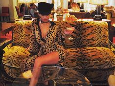 Insta-queen: Rita later posted a sexy Instagram shot which saw her reclining on a tiger-print sofa