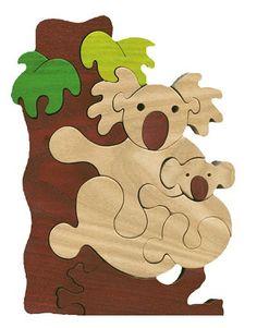 Koala family Montessori  Waldorf wooden puzzle made by Ludimondo, $35.00