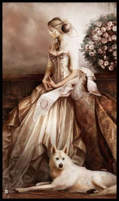 """.::: Painting by Eve Ventrue :::. Painting is titled """"Melancholy"""". See more of this artist's work on her Deviantart page."""