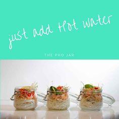 These seem simple and healthy -  Prepare Ahead Pho Jar