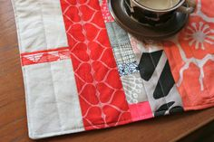 patchy placemats - good way to use up scraps!