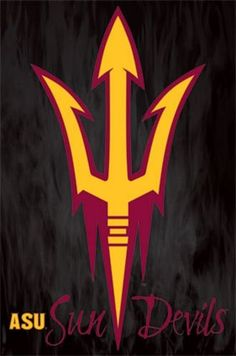 "Arizona State University Sun Devils Logo 22""x34"" Art Print Poster Trends International College Football Helmets, Football Team Logos, State Of Arizona, Arizona State University, Sports Logo, Devil, Art Prints, Basketball, Girls Camp"