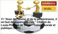 """11 """"Avec de l'amour et de la persévérance, il ne faut désespérer de rien."""" Citation de Louis-Philippe de Ségur : Galerie morale et publique (1816) https://aurelienmalecki.com/"""
