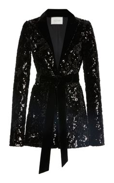 This Alexis Pamina sequin romper features a flirty silhouette with a plunging neckline and a velvet lapel collar. Black Women Fashion, Latest Fashion For Women, Womens Fashion, Sequin Blazer, Sequin Dress, Winter Outfits Women, Mode Hijab, Ethnic Fashion, Ladies Dress Design