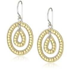 "Anna Beck Designs ""Gili"" 18k Gold-Plated Oval Teardrop Earrings $69"