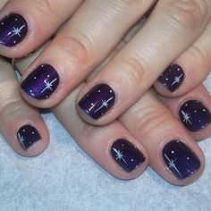 Violet Galaxy with Stars Art